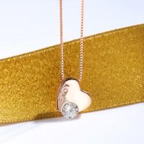 silver heart necklace MLA766