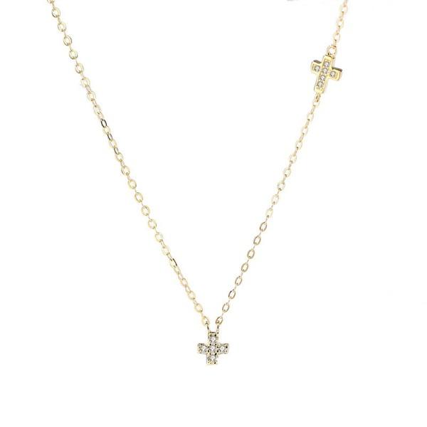 Silver Cross necklaceMLA1094