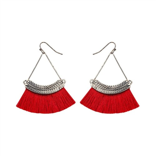 Fan-shaped tassel earrings ME68481-4