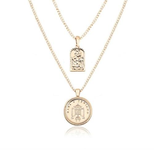 Round religious necklace MN70016