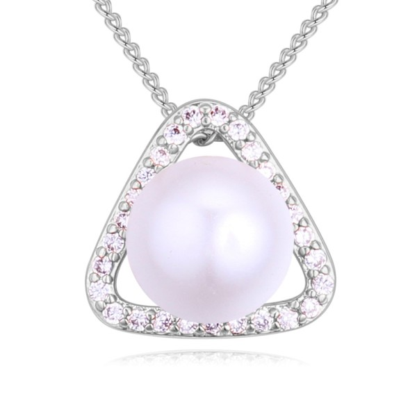 Triangle pearl necklace 27316