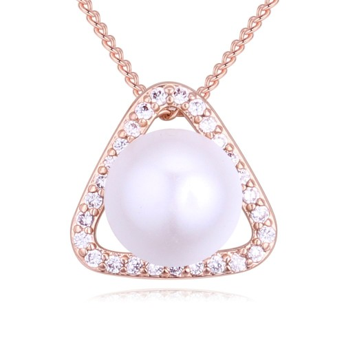 Triangle pearl necklace 27315