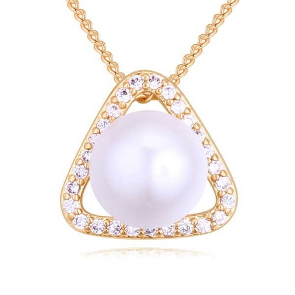 Triangle pearl necklace 27314