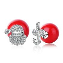 Christmas hat earrings 624