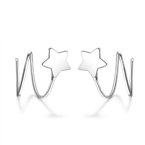 Star wave earrings