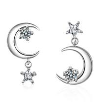 star moon earring 479