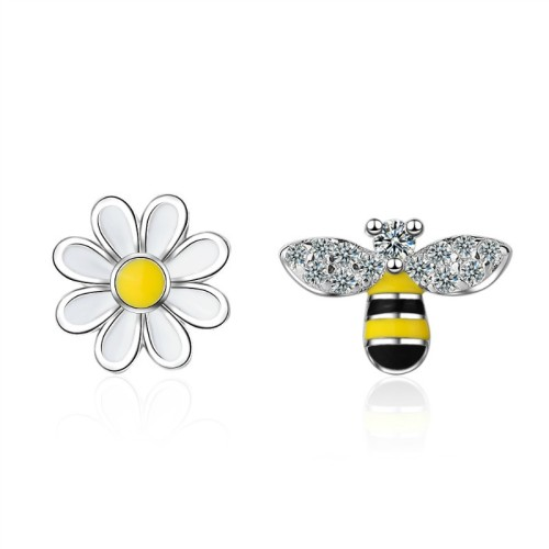Bee flower earrings 586
