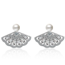 Pearl fan earrings XZE528a