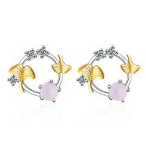 round flower earring 653
