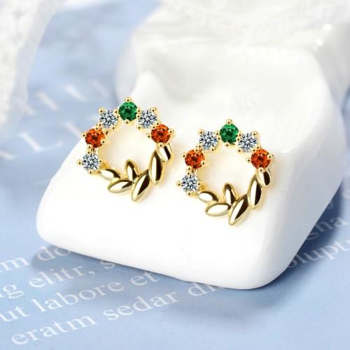Leaf wreath earrings XZE773a
