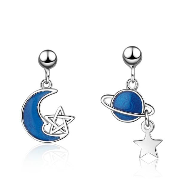 star moon earring 791