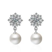 snowflake pearl earring 459