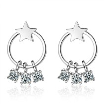 round star earring 750