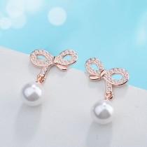 bowknot pearl earring XZE415a
