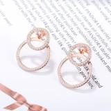 Round back earrings XZE419a