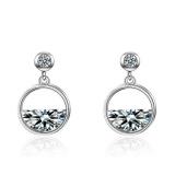 Semicircular earrings 540