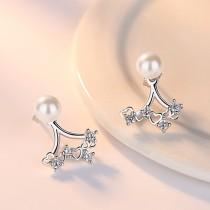 heart pearl earring wh 105