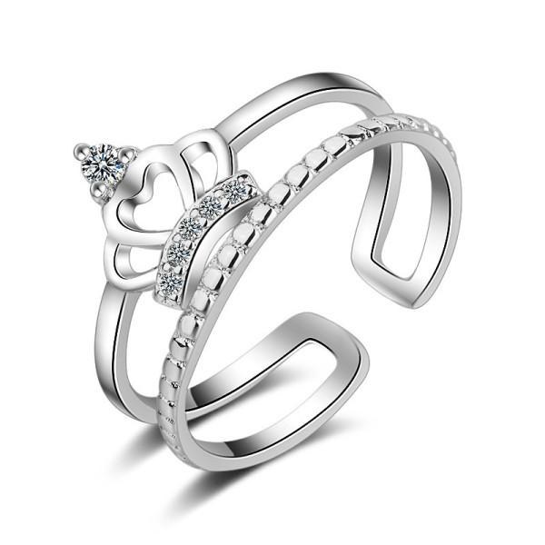 Crown Zircon Double Rings XZR184