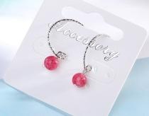 Pink earrings XZE292a