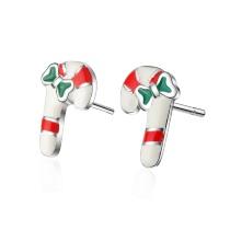 Christmas cane earrings 640