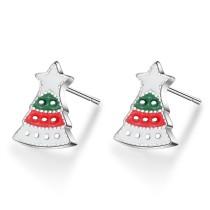 Christmas tree earrings 633