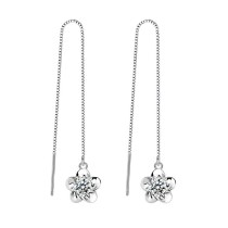 flower long earring WHE17