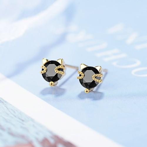 Cat earrings XZE776-1
