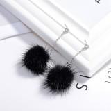 Hair ball earrings XZE003