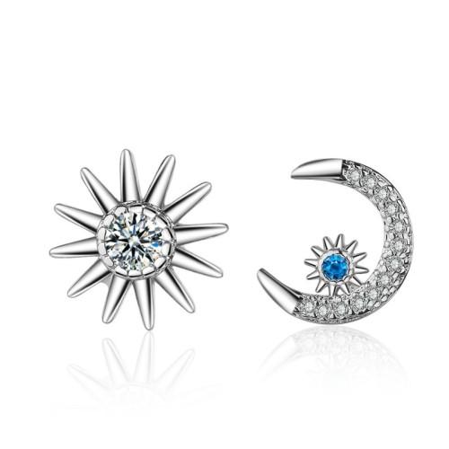 Star moon earrings 804