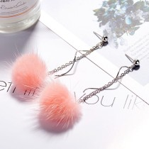 Plush earrings XZE009d
