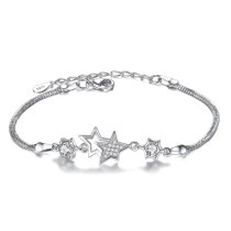 Five-pointed star bracelet wh 31