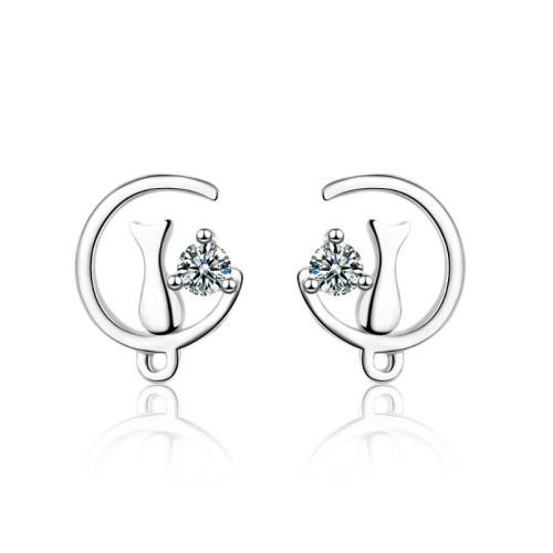Moon cat earrings 778