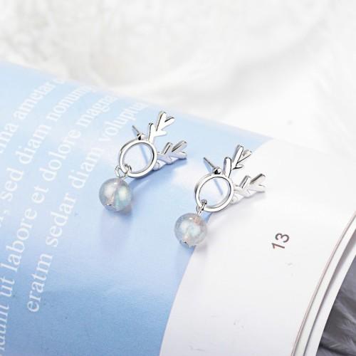 Antlers Drop Earrings XZE774a