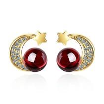 Star moon earrings 787