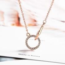 Double ring necklace XZA405-1