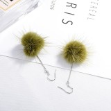 Plush earrings XZE002c