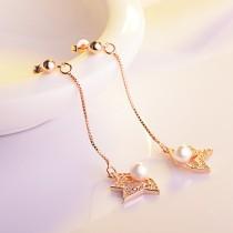flower pearl earring XZE404a