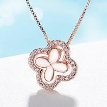 Four Leaf Clover necklace XZA213a