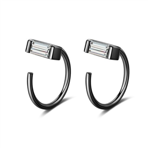 Square diamond earrings XZE369-2