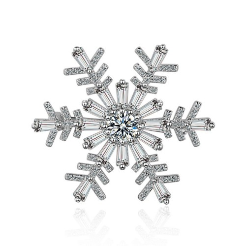 Snowflakes brooch XZB008w