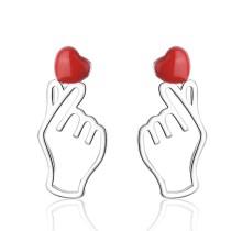 Gesture love earrings 703
