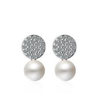 round pearl earring XZE406