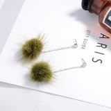 Hair ball earrings XZE003b