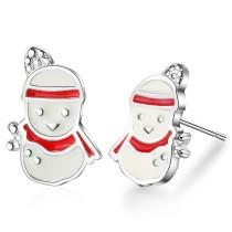 Christmas snowman earrings 631