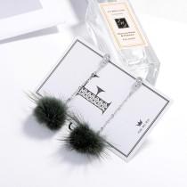 Hair ball earrings XZE003j