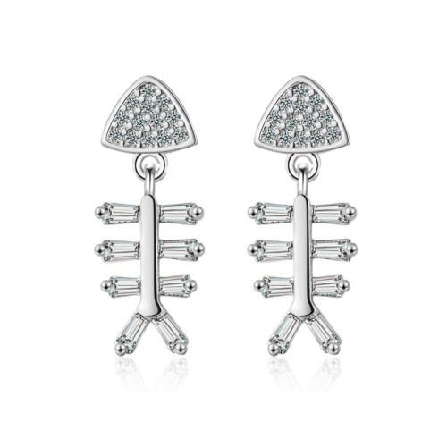 Fish bone earring XZE668
