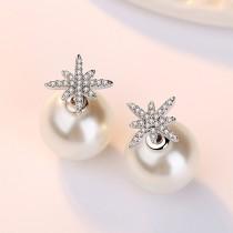 snowflake pearl earring wh 80