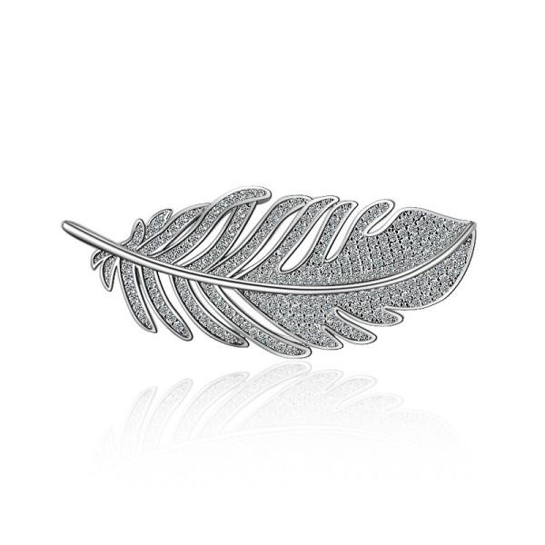 feather brooch XZB003w