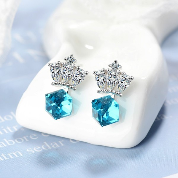 Crown earrings XZE764a