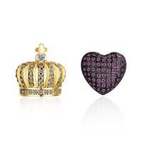heart crown earring XZE507a